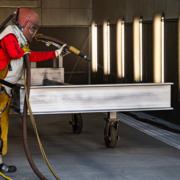 metal-fabrication-blasting