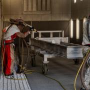 metal-fabrication-sand-blasting